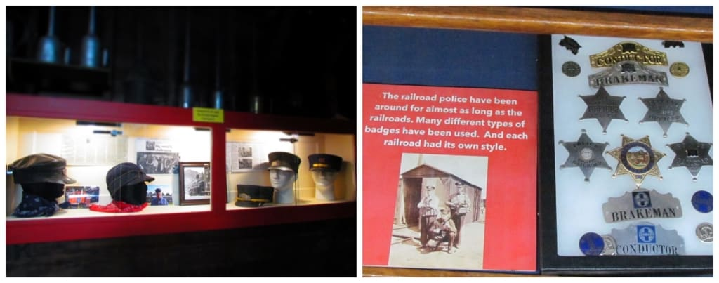 A small museum is attached to the Abilene Depot that includes a variety of railroad artifacts.