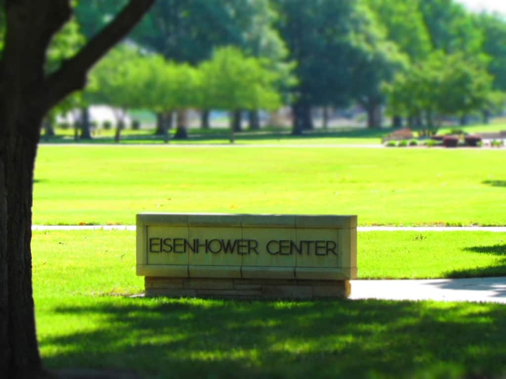 The Eisenhower Center includes a museum, boyhood home, and the Eisenhower Presidential Library.