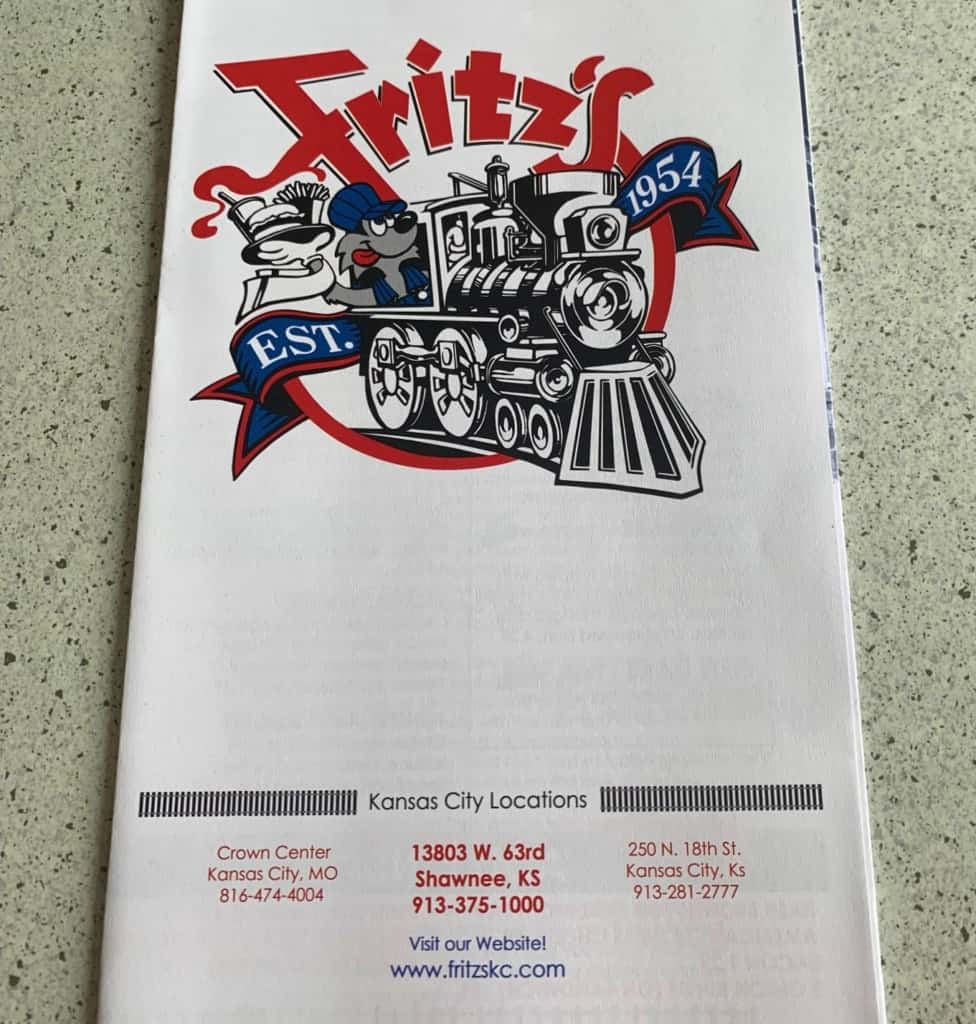 You'll be crossing the tracks when you make a visit to Fritz's railroad restaurant.
