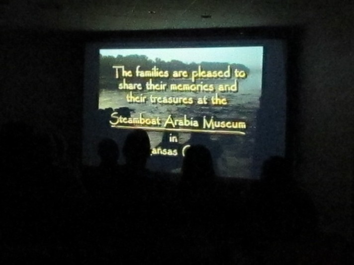 A scene from the film that is played to introduce guests to the Arabia Steamboat Museum.