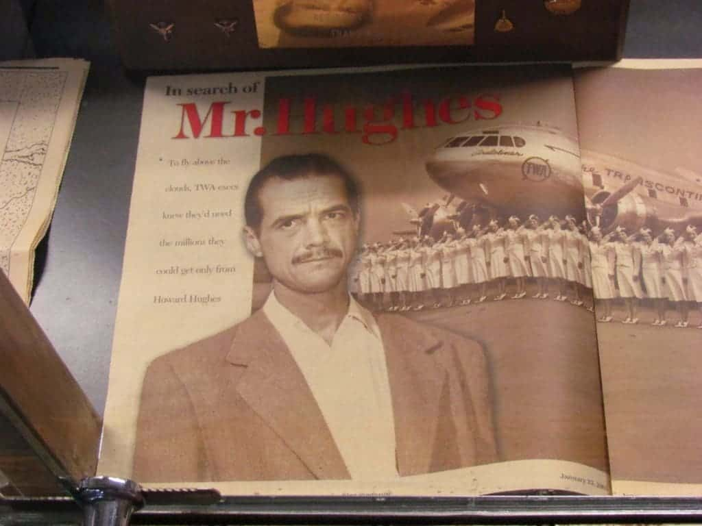 A magazine article highlights the important role Howard Hughes played in the building of Trans World Airlines.