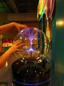 Static electricity display.