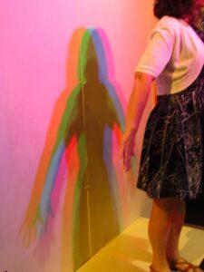 Exhibit demonstrates light refraction.