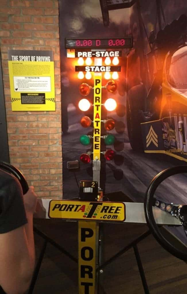 Test your skills at drag racing.