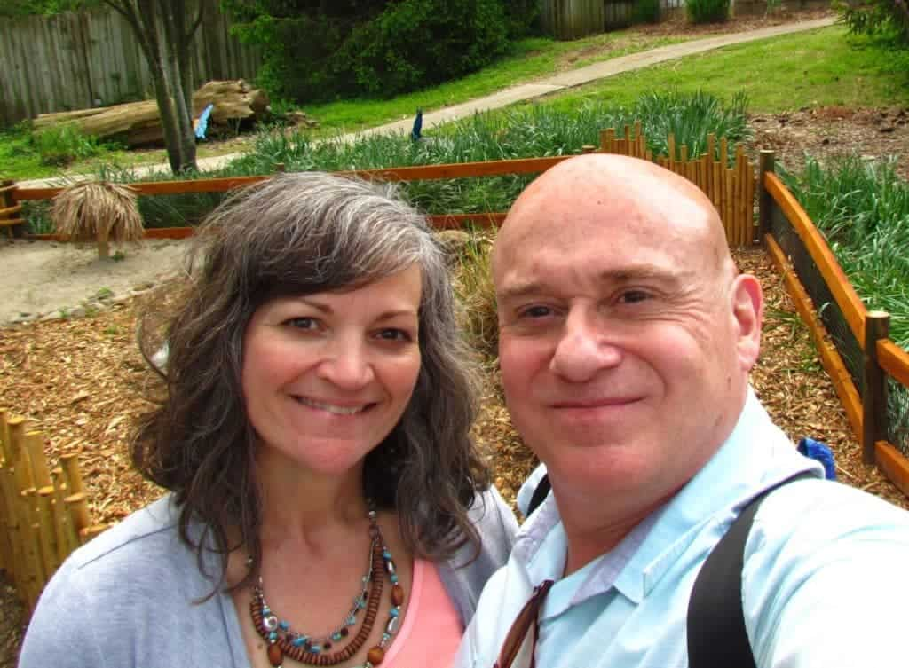 The authors at the Dickerson Zoo.