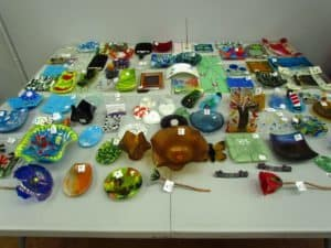 A variety of glass projects.