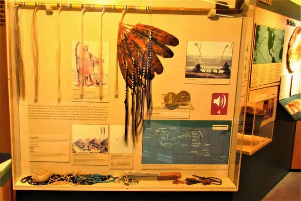 Display about native Indians