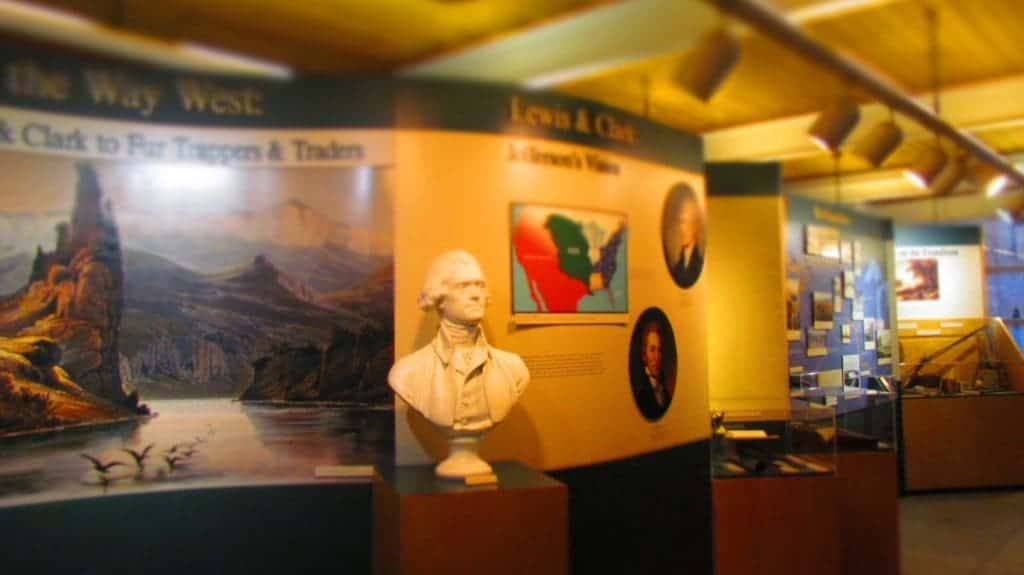 Display about early explorers.