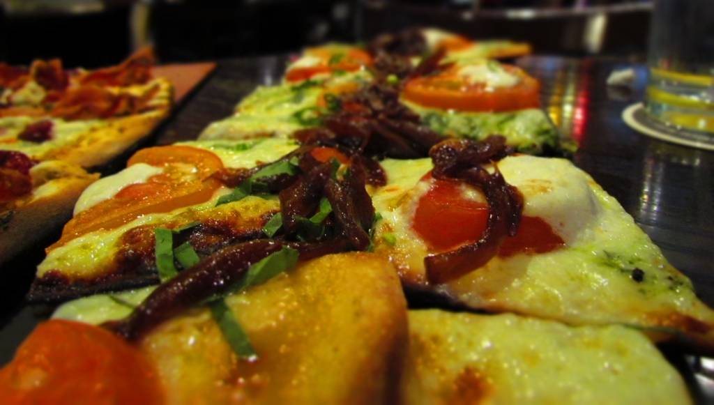 Flatbread pizza.