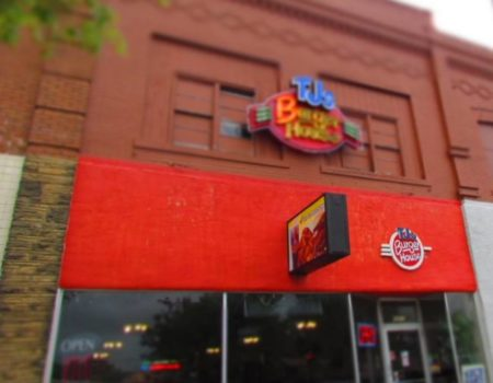 TJ's Burger House exterior.