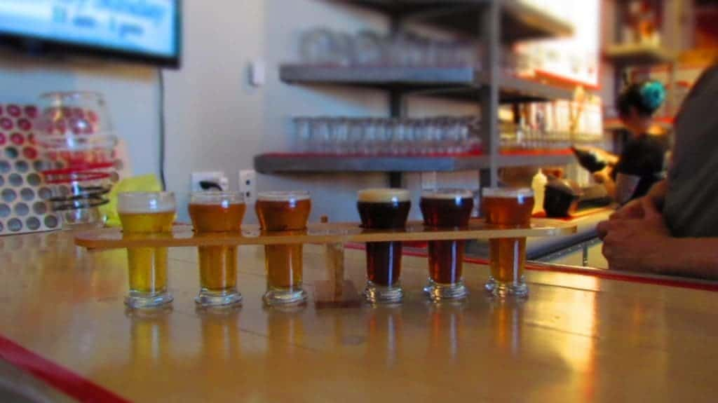 Delicious selection of craft beers at Aero-Plains Brewery in Wichita, Kansas.