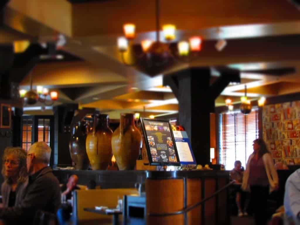 Interior of Paulo and Bill restaurant.