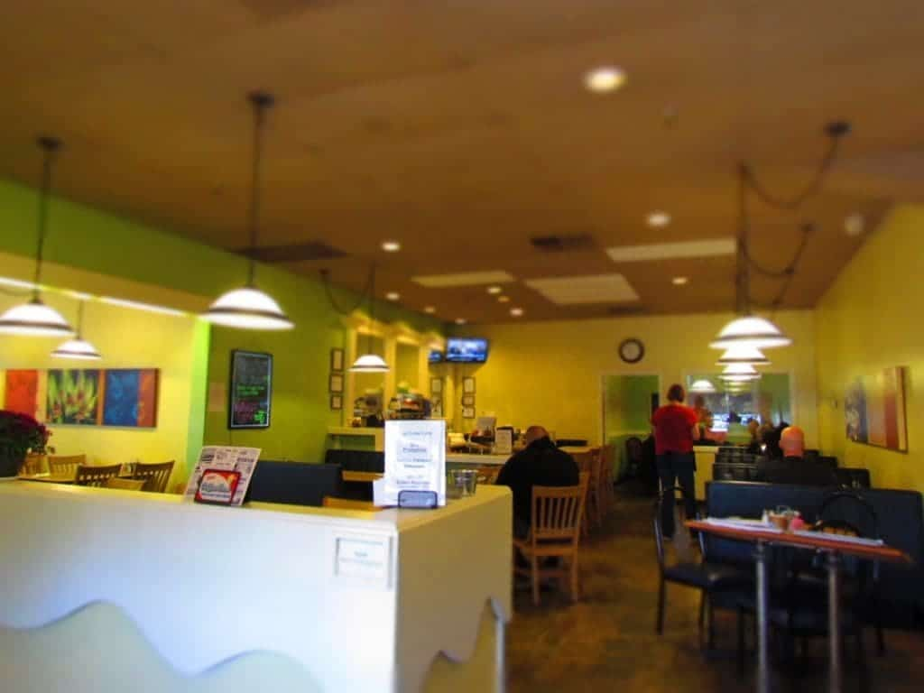 Interior of Egg Crate Cafe.
