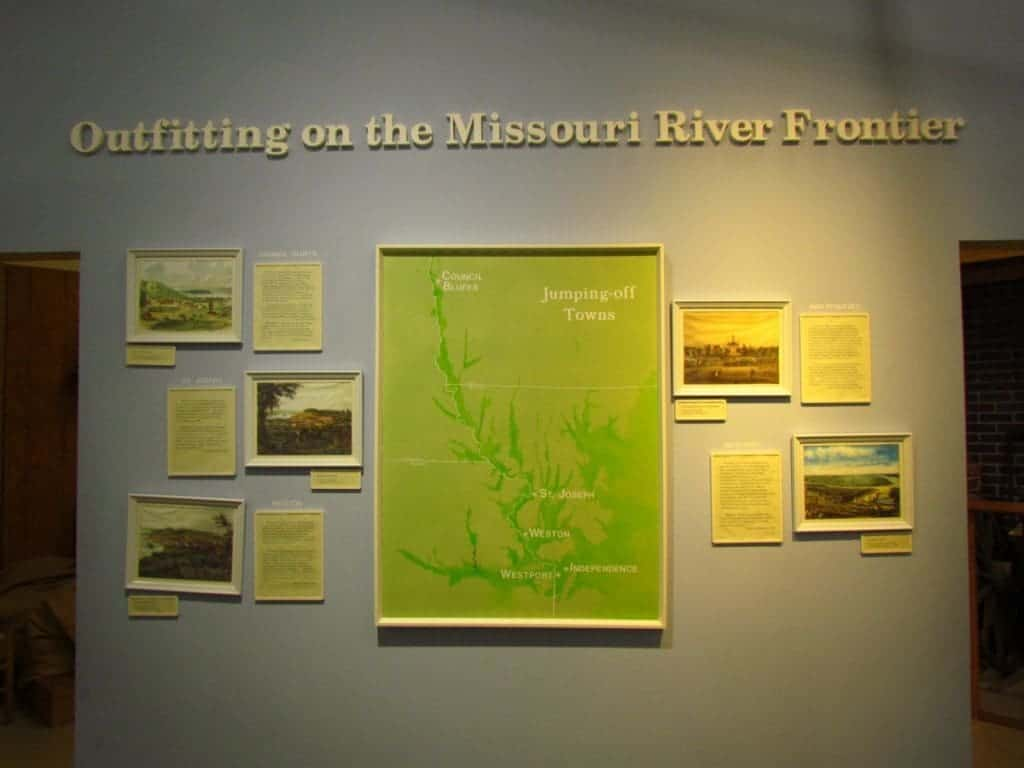 Trails museum display on river towns.