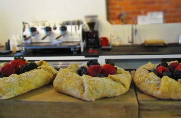 Berry filled pastries