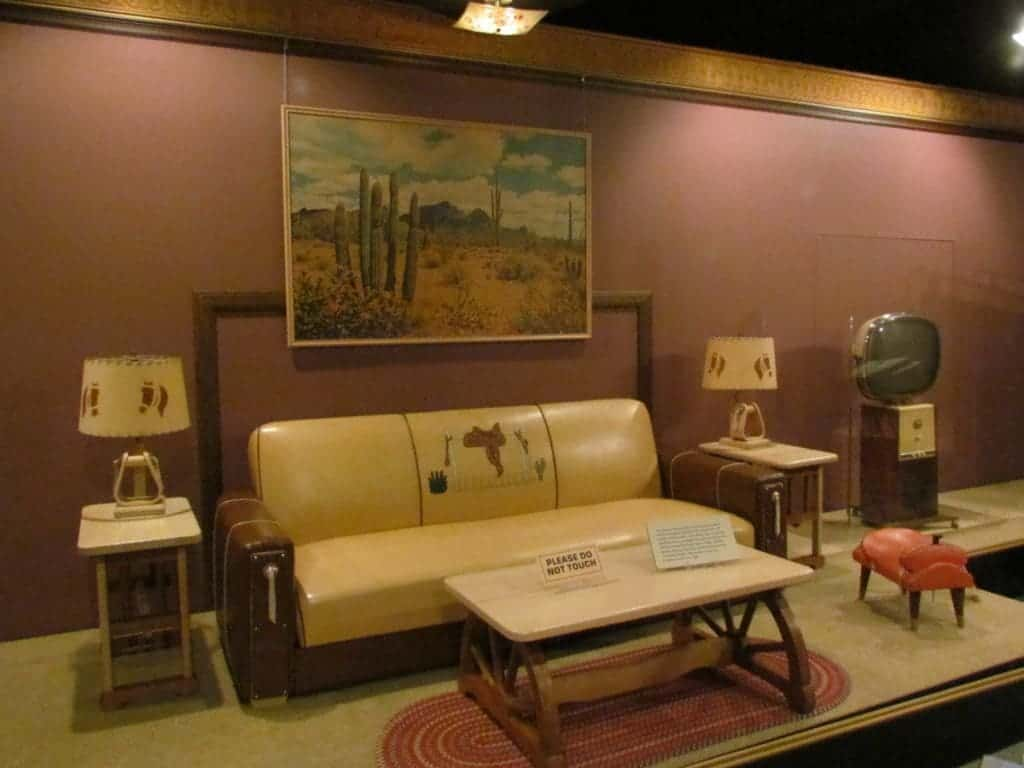 A western style living room set from the 1950's.