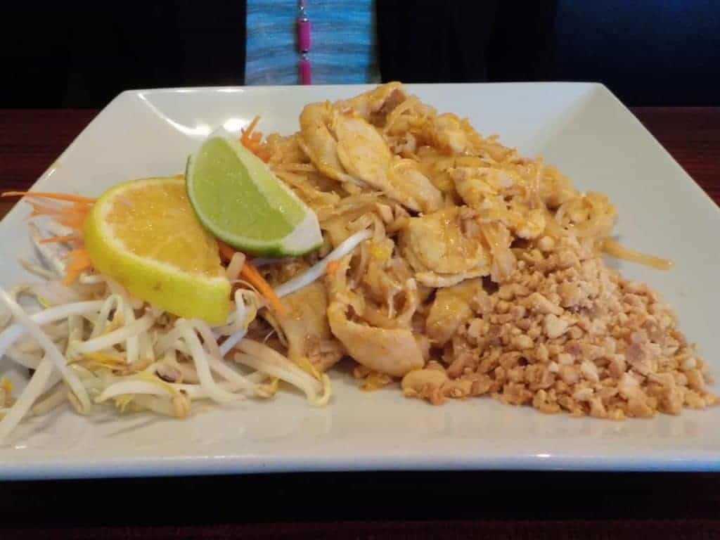 Chicken Pad Thai meal.