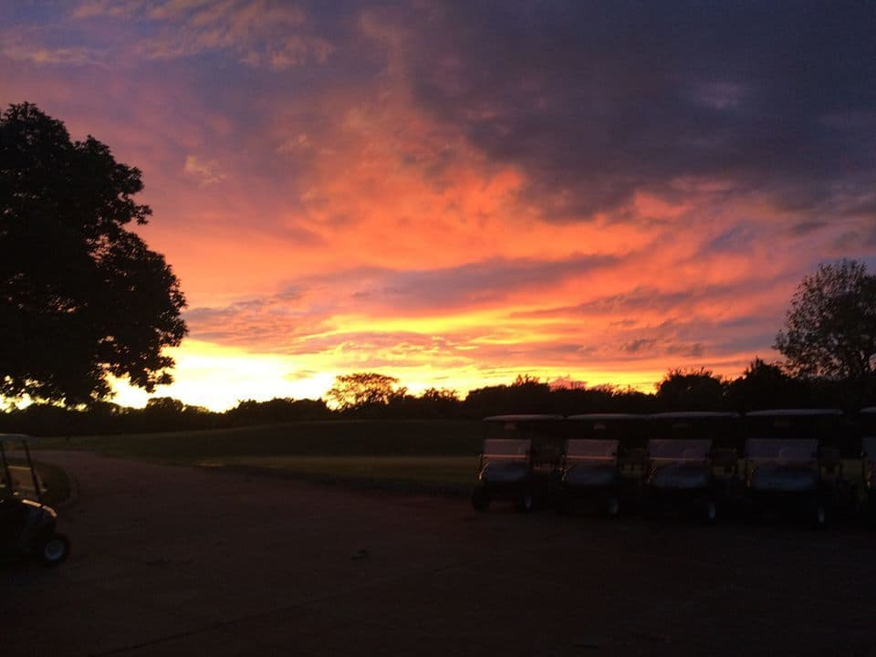 Sunrise at Sunflower Hills Golf Course.