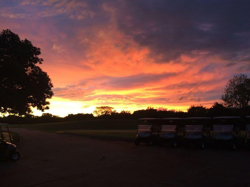 Sunrise at Sunflower Hills Golf Course.