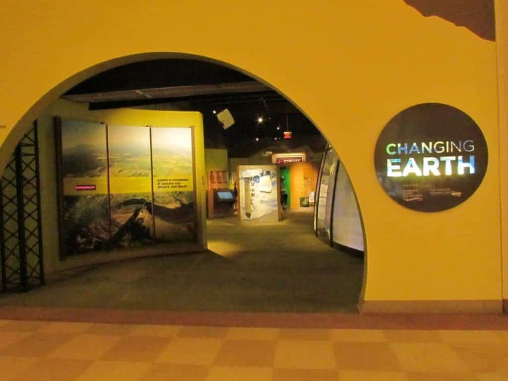 Entrance to Changing Earth exhibit.