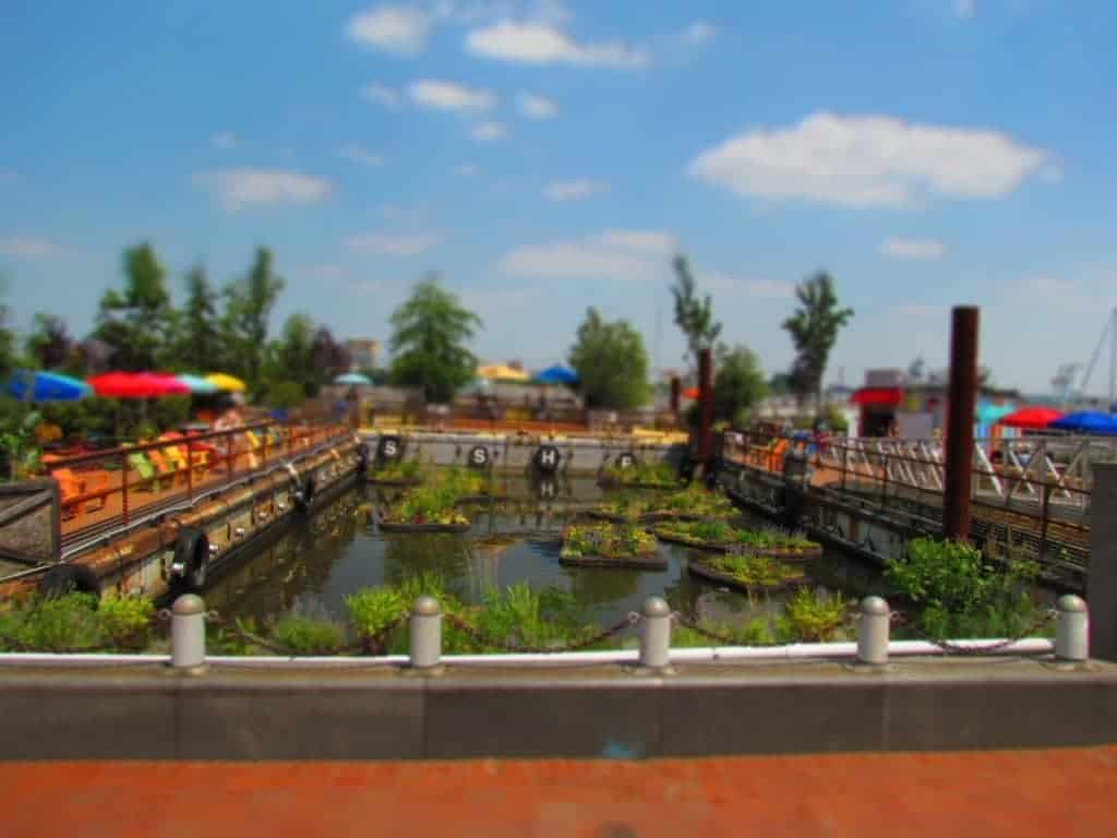 Spruce Harbor Park - urban park - pop up park - Philadelphia - hammocks - waterfront - Delaware River