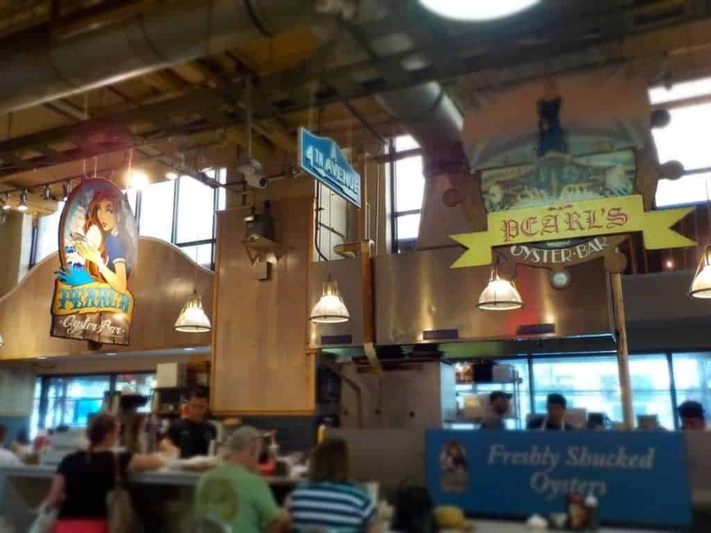 Pearl's Oyster Bar at Reading market.