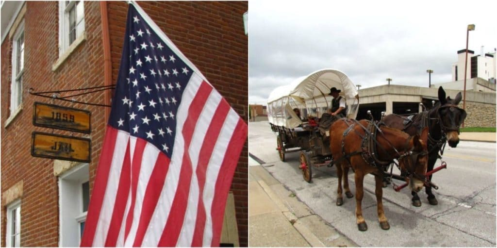 The jail and adventure tours showcase the history of Independence.