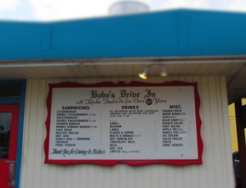 Dining Old School At Bobo's Drive-In