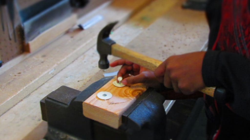 A hammer and nails can open a world of imagination.
