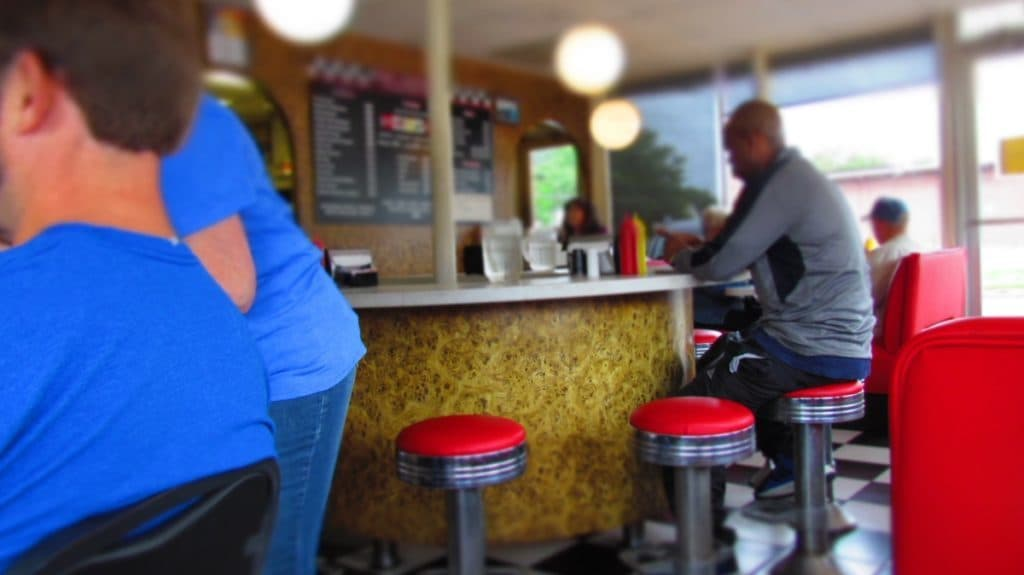 Counter seats at Bobo's Drive In.