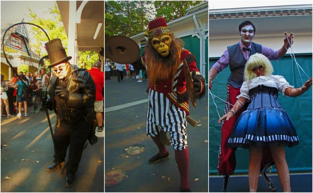A few of the main characters pose for pictures during a special event.