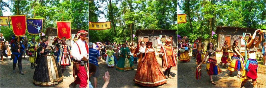 The Grand March is a chance for visitors to see a variety of the characters at the festival.