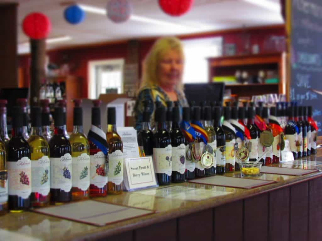 Visitors are welcome to sample the various wines that Ackerman Winery produces.