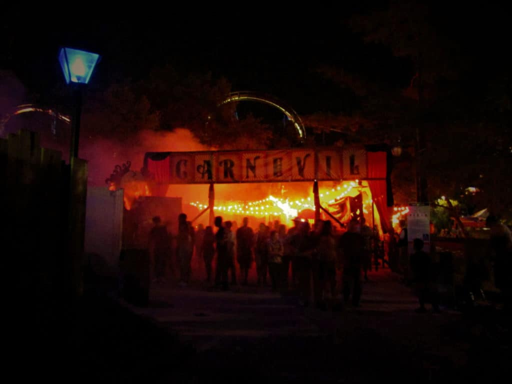 Carnevil is one of the four scare zones found at Halloween Haunt.