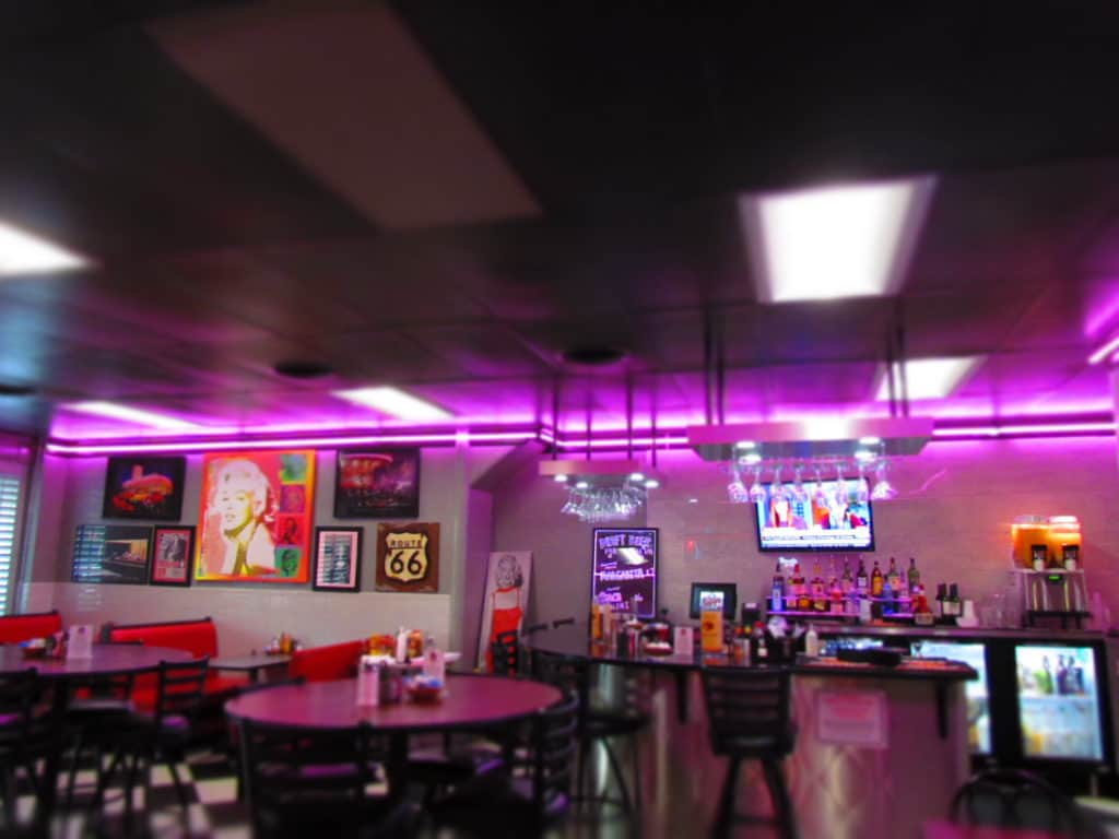The new bar area at Tally's Good Food Cafe.