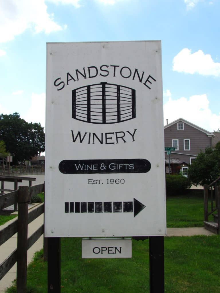 Our next stop was only a short walk away to Sandstone Winery.