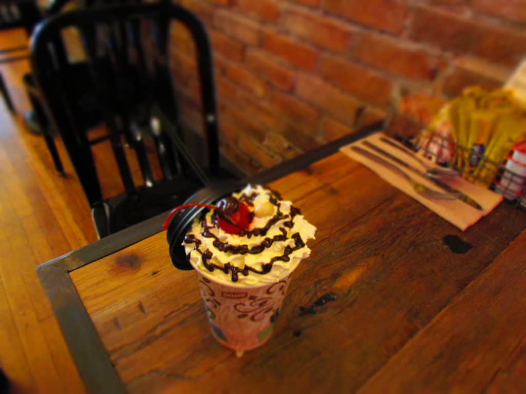 Chocolate Covered Cherry Coffee is a delicious drink to sip while shopping in the stores near the Mud Street Annex.