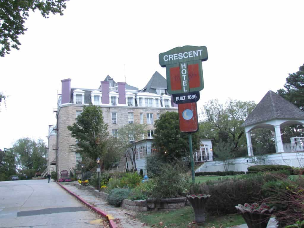 The Crescent Hotel and Spa is a beautiful historic building in Eureka Springs, Arkansas.