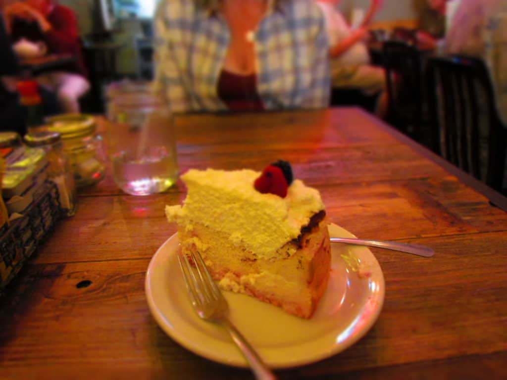 A slice of Very Berry Cheesecake added a delicious, and sweet end to our lunch.