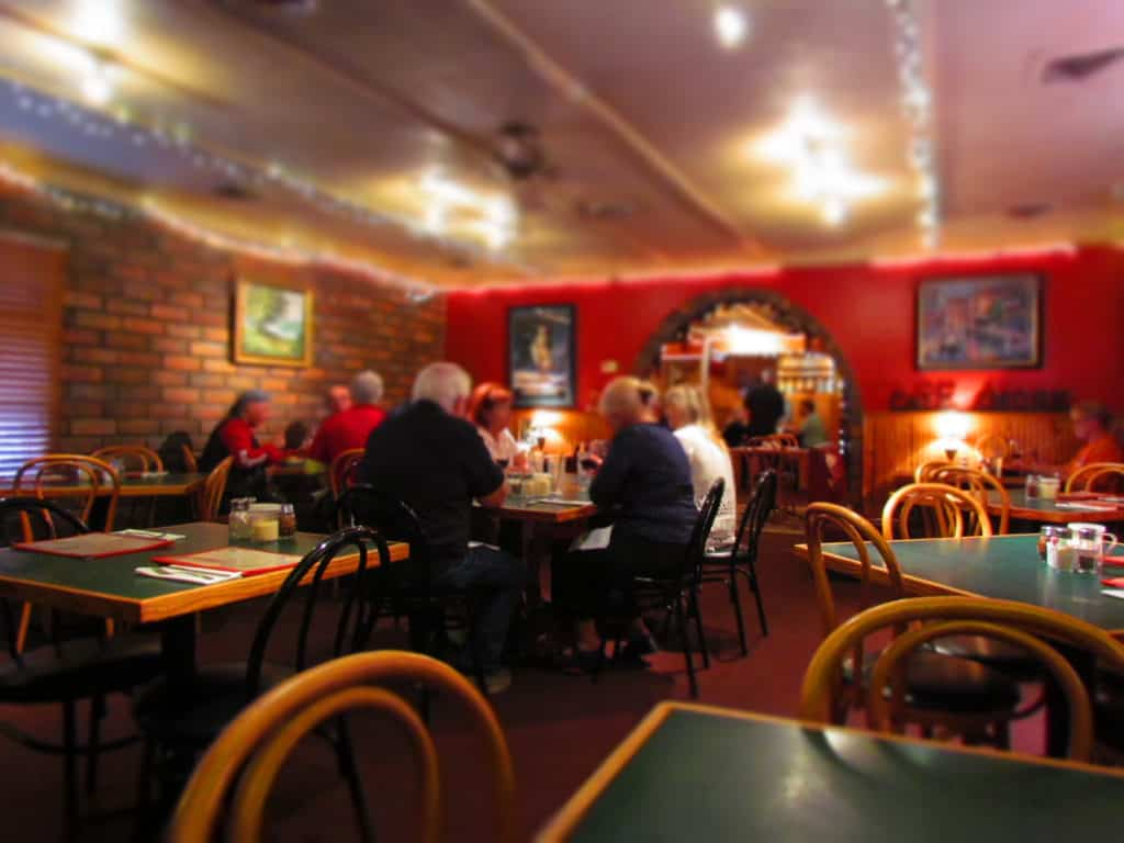 Diners at Cafe Amore, in Eureka Springs, enjoy delicious Italian food in a relaxed atmosphere.