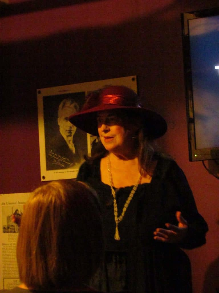 Aunt Reba explains to the tour group, a little of the hotel's history.