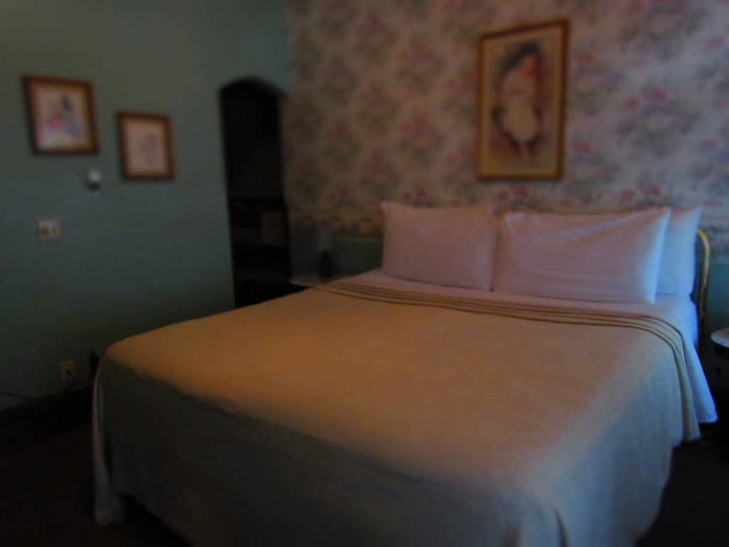 Victorian syling is predominant in the guest rooms at the Grand Central Hotel.