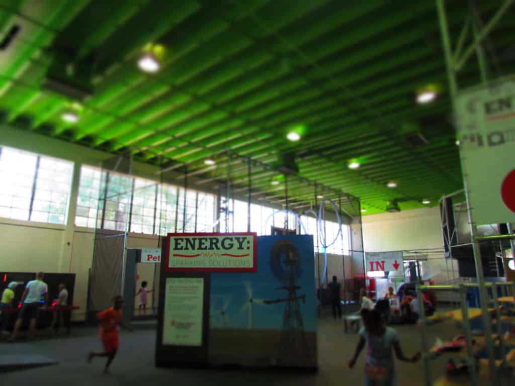 The Main Hall is filled with interactive, hands-on exhibits for visitors of all ages.