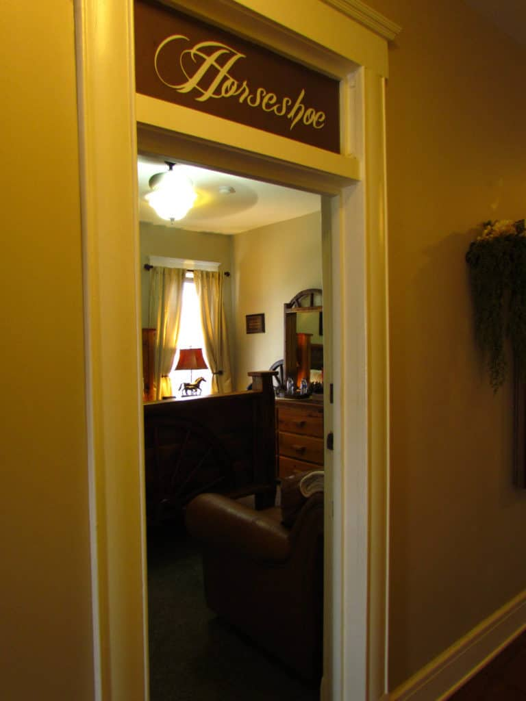 Each of the nine rooms in The Branson Hotel are named and decorated in a theme style.