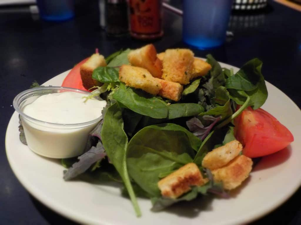 A fresh green salad is a great start for dinner.