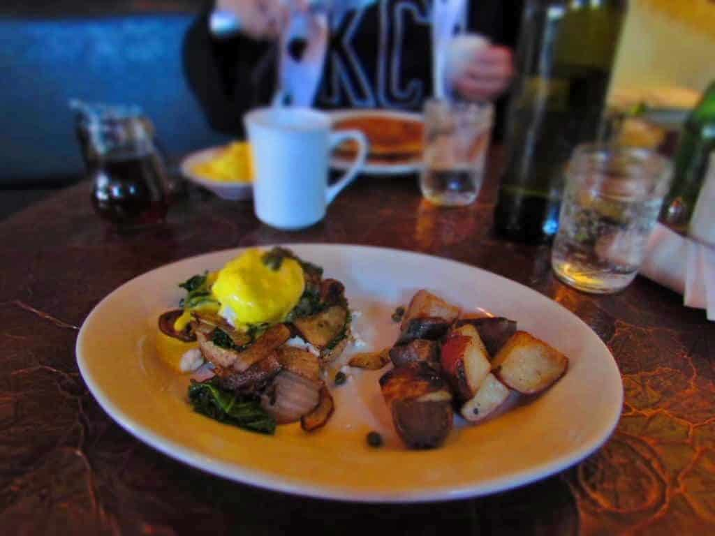 Eggs Benedict comes in a variety of flavor combinations at Blue Bird Bistro.