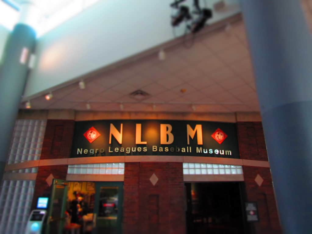 The entrance to the Negro Leagues Baseball Museum in Kansas City.