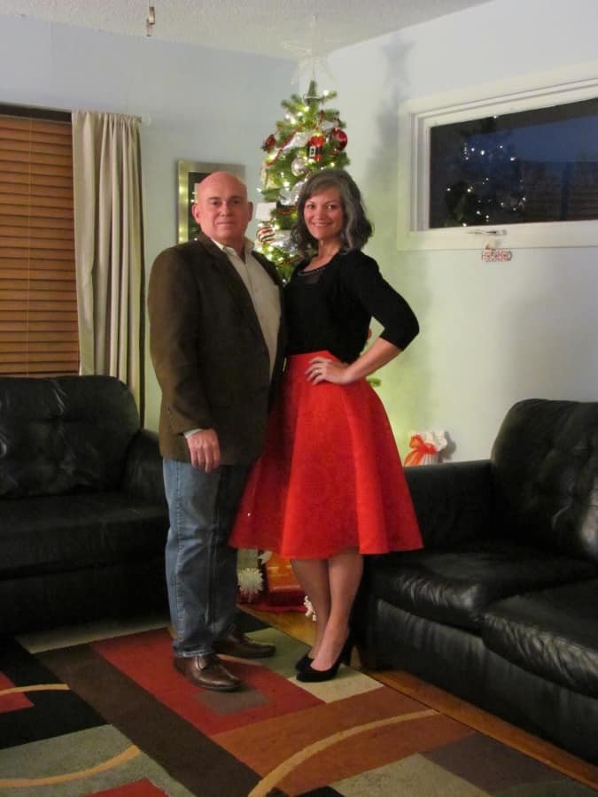 The authors take a break from traveling to enjoy Christmas with family and friends.