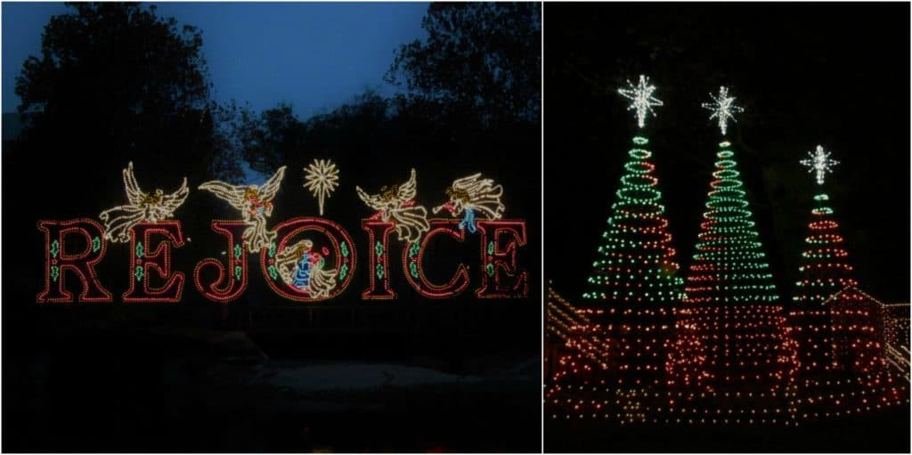 A couple of te light displays found at the Old Time Christmas Festival.