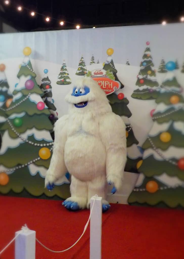 Characters from the show Rudolph the Red Nosed Reindeer are found in the children's area.